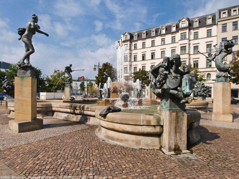 Poetisch Brunnen.Das Schöne Detail Brunnen Und Wasserspiele Halle